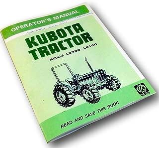 Kubota L3750 L4150 Operators Owners Manual Diesel Maintenance Specifications