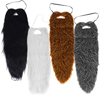 "Tigerdoe Beards - 4 Pack - Long Beard Costume - 23"" Beards - Fake Beard and Mustaches - Costume Accessories - Dress up - F..."