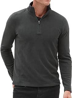 Banana Republic Ultrawarm Micro Fleece Half Zip Pullover Sweater Dark Charcoal Grey