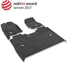3W Floor Mats for Ford F150 SuperCrew Cab (2015-2019) Heavy Duty 1st & 2nd Row Bucket Seating TPE Floor Liner Custom Fit Car Mats, Black