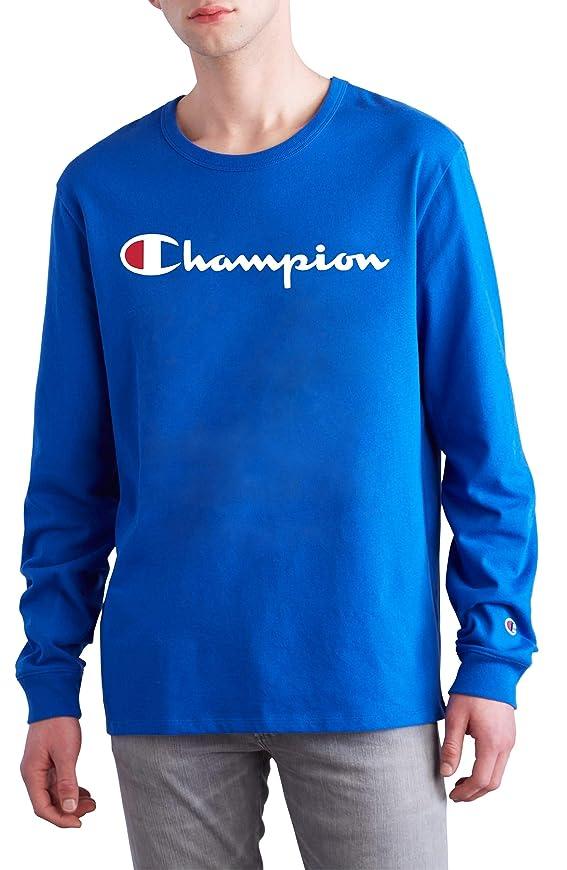 真実にいいね到着[チャンピオン] メンズ Tシャツ Champion Heritage Long Sleeve Logo T-Shi [並行輸入品]