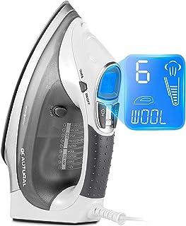 Fer à Repasser Vapeur Beautural, 2400W, 340 ML avec écran LCD, Anti-Gouttes et Système d'Auto Nettoyage Anti-Calcification...