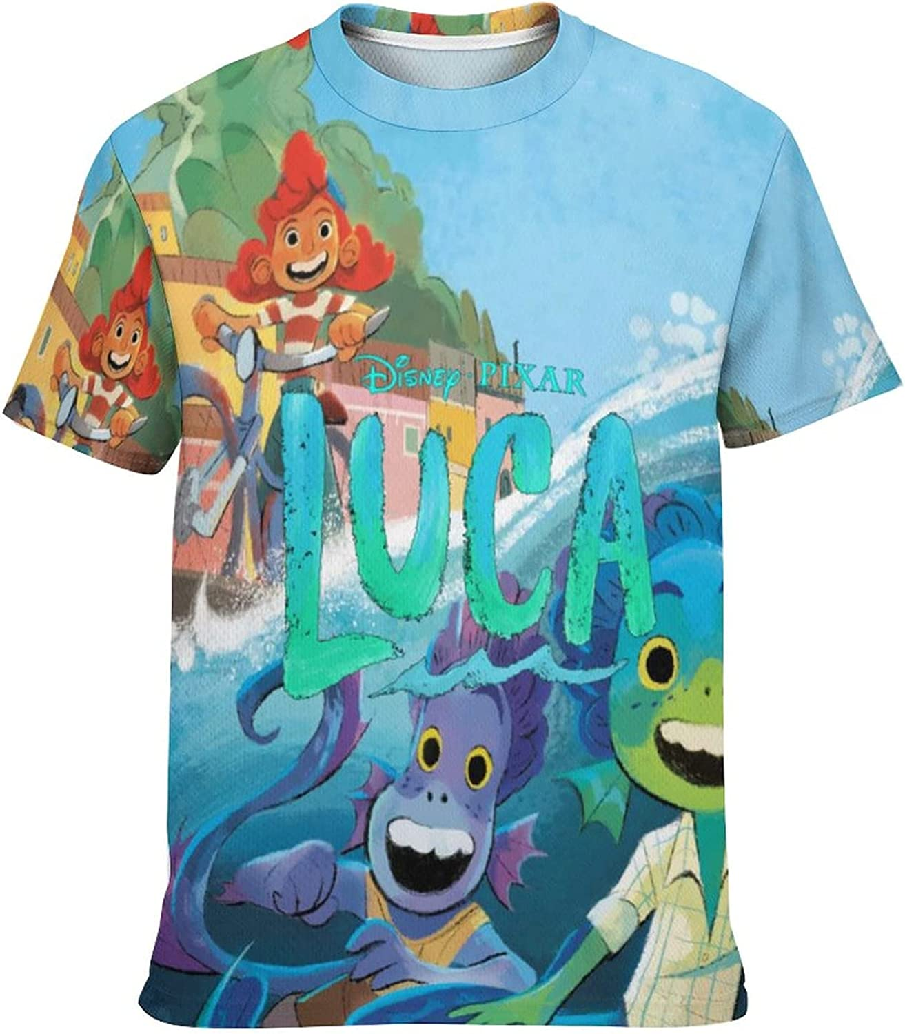 Kid's Novelty Graphic Round Neck Short Sleeve T-Shirt Cozy Trendy Tee Shirts Tops for Boys M