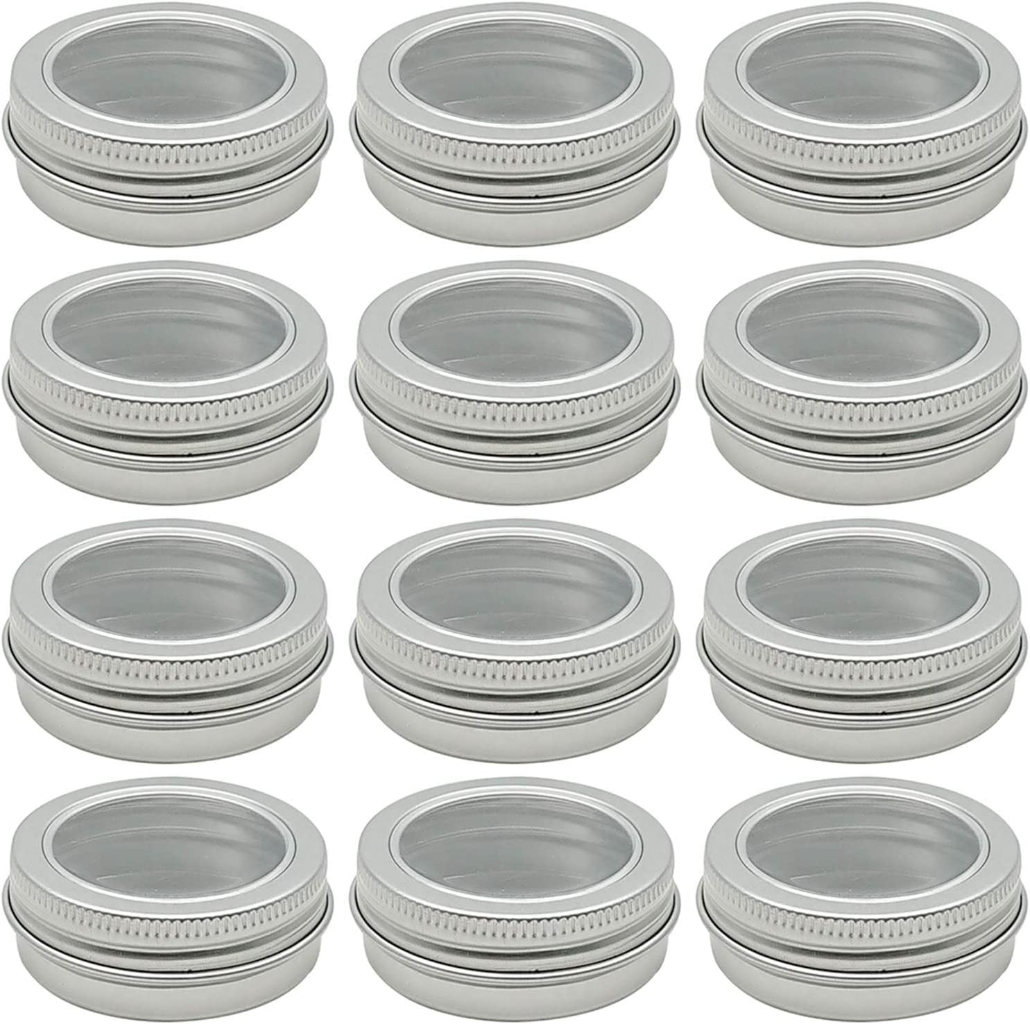 Hulless 1 Ounce Great interest Aluminum Tin Jar Ranking TOP4 30 Refillable ml Containers Cle