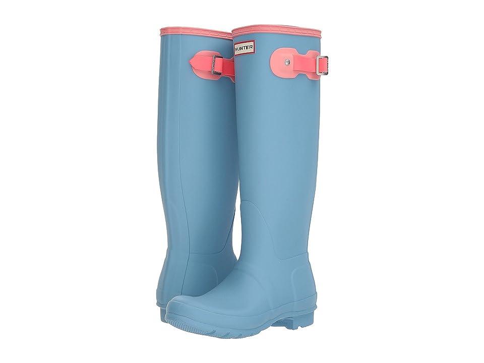 Hunter Original Tall Color Block Rain Boot (Pale Blue Colour Block) Women