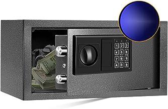 SamYerSafe Safe Box with Sensor Light, Security Safe with Electronic Digital Keypad Money Safe Steel Construction Hidden w...
