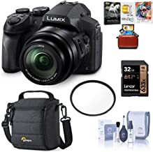 Panasonic Lumix DMC-FZ300 12.1MP Digital Camera 24x Zoom - Bundle with Camera Case, 16GB SDHC Card, 52mm UV Filter, Memory Wallet, Cleaning Kit, Mac Software Packge