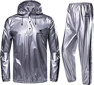 CAMEL CROWN Weight Loss Sweat Suit, Heavy Duty Sweat Sauna Suit for Men Women Exercise Gym Suit for Fitness