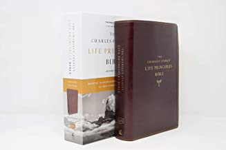 KJV, Charles F. Stanley Life Principles Bible, 2nd Edition, Leathersoft, Burgundy, Comfort Print: Growing in Knowledge and Understanding of God Through His Word