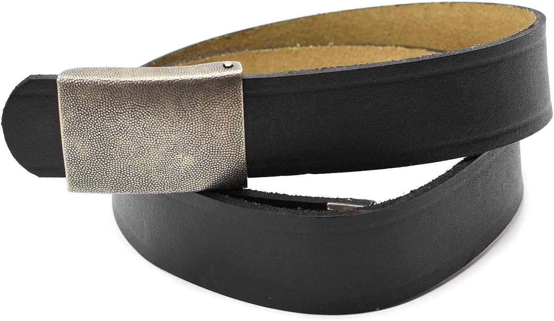 Genuine German army black genuine leather belt military BW issue