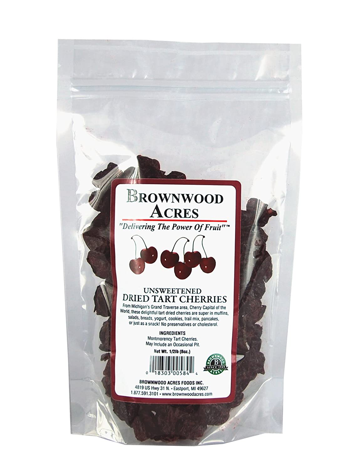 Max Excellence 90% OFF Unsweetened Dried Cherries by Brownwood FruitFast - Non- Acres