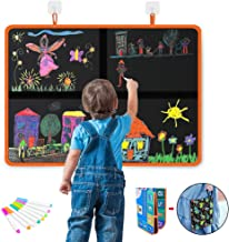 DX DA XIN Kids Doodle Drawing Board, Erasable Blackboard for Toddlers Boys Girls Painting Foldable Drawing Pad with Colorf...