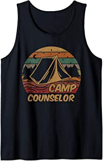 Camping Gifts Camp Lovers Counselor Happy Camper Tank Top