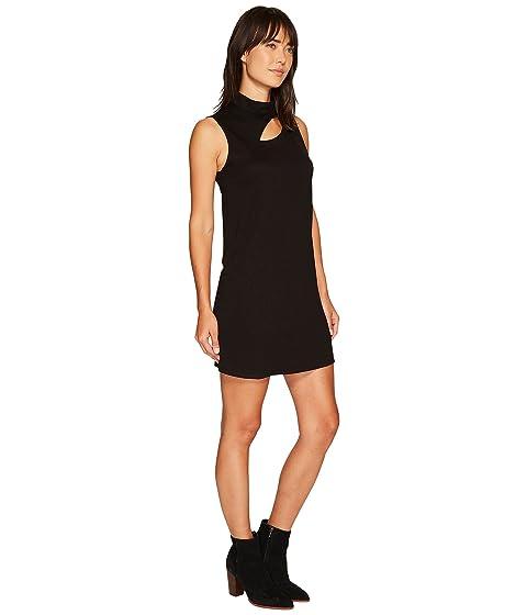 alto con cuello negro cuello de de Lanston vestido Mini vuelto wqISt7
