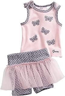 Kids Newborn Girl Butterfly Tank and Tutu Shorts Set (0-9M)