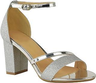 509cd8babeae Fashion Thirsty Heelberry® New Womens Ladies Low Block Heel Diamante Sandals  Wedding Party Prom Black