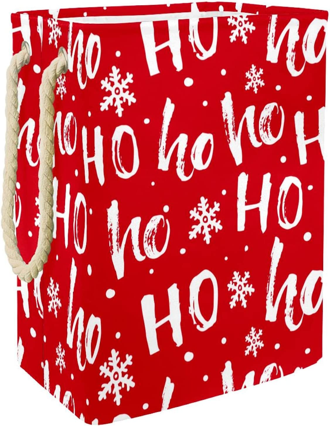 Special Don't miss the campaign Campaign Laundry Hamper Red Christmas Hohoho Lin Snowflake Santa Foldable