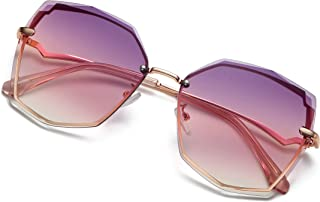 S.NOTIO Sunglasses for Women trendy Polygon Oversized Fashion Designer Style Gradient UV400 octagon Lens Metal Frame