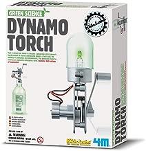 4M Green Science Dynamo Torch - DIY Mechanical Green Alternative Energy Lab - STEM Toys Educational Gift for Kids & Teens, Girls & Boys