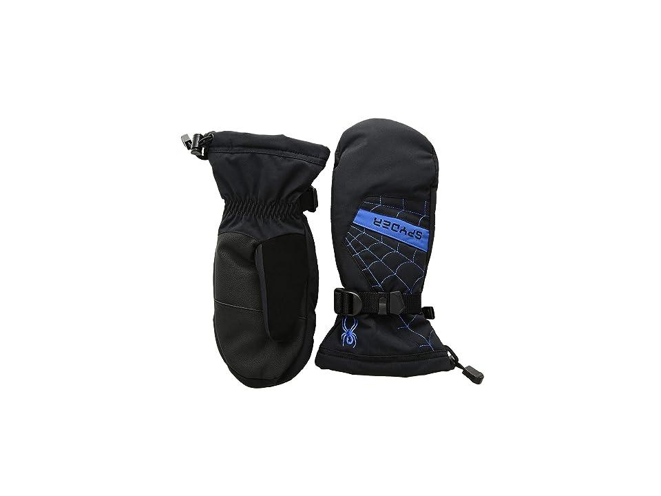 Spyder Kids Overweb Ski Mitten (Little Kids/Big Kids) (Black/Turkish Sea) Ski Gloves