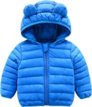 TEVEQ Jacket for Kids Winter Warm Girls Boys Hooded Outerwear Coats Down Jacket+Romper Two-Piece Set
