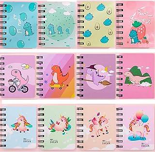 Czemo Mini Block Notes Bambini Piccolo Taccuino Tascabile Guaderno Spirale Regalini Fine Festa Bambini, Confezione da 12 (#2)