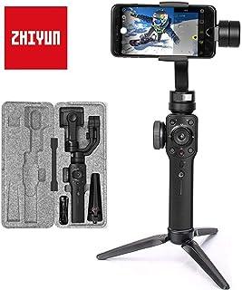 Zhiyun Smooth 4 (Última Versión) Estabilizador para Moviles 3 Ejes Estabilizador Gimbal para Smartphone hasta 210g Gimbal Movil Gimbal para Smartphone y Gopro Color Negro