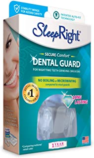 SleepRight Secure-Comfort Dental Guard Mouth Guard To Prevent Teeth Grinding SleepRight No Boil Dental Guard