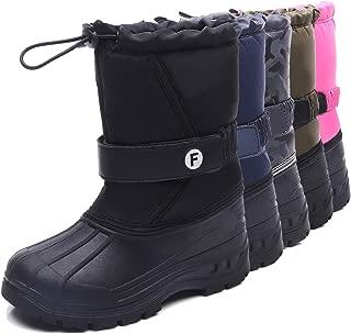 Kids Winter Snow Boots Boys and Girls Waterproof Outdoor...