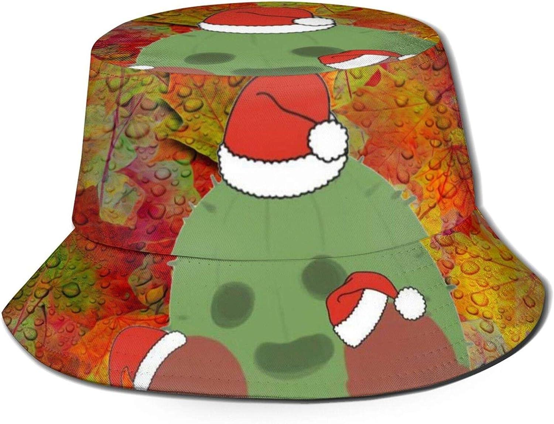 LEIJGS Autumn Leaf Raindrops Christmas Bucket Sun Hat for Men & Women -Uv Protection Camping Summer Hatflexible Durable for Teenager