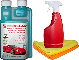 PROKLEAR Waterless Kit Concentrate Cleans 50 Cars with Microfiber dilutable 100 Times