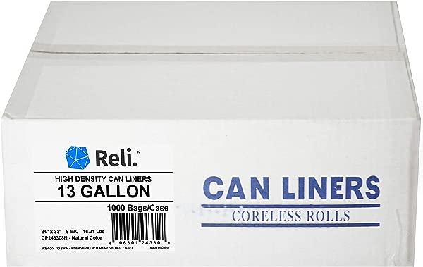 Reli 13 Gallon Trash Bags 1000 Count Bulk Clear Trash Bags 13 Gallon In Bulk Recycling Clear Can Liners 13 Gallon 16 Gallon Tall Kitchen 13 Gal