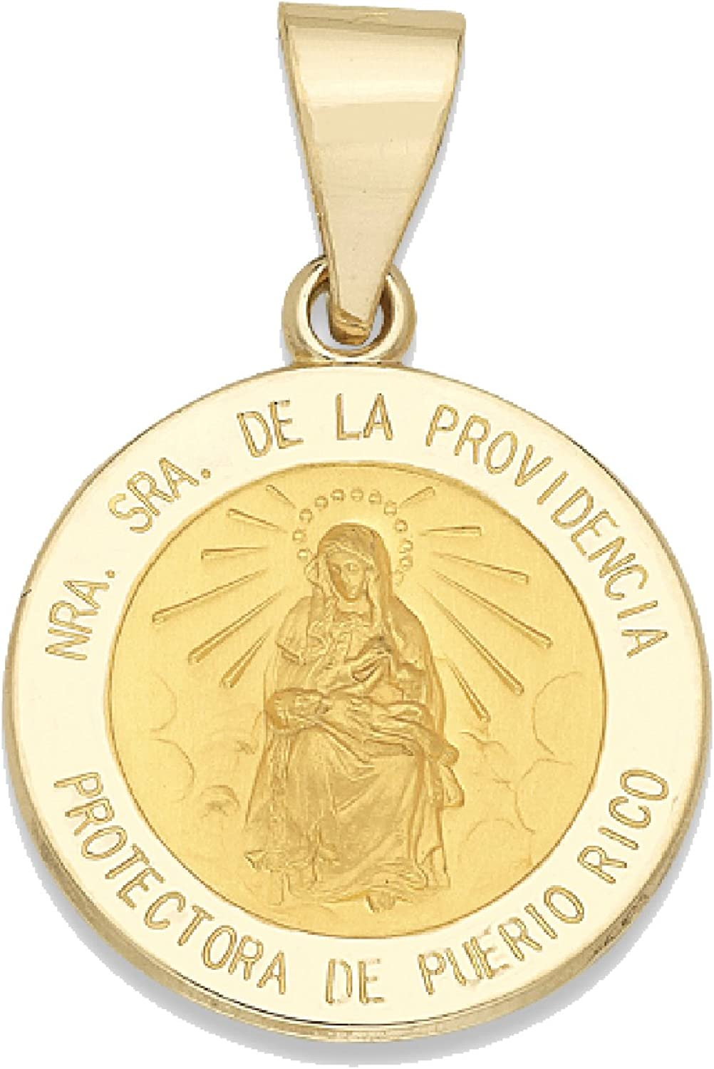 Genuine 14K Yellow Gold Round Medal Ranking TOP10 Our of shop most popular Lady Providence
