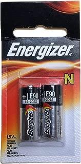 Energizer E90-BP-2 N 1.5V Alkaline Batteries Replaces 810, 910A, 910D, AM5, E90, LR1SG, MN9100, N, R1, 23023A, 4001, 5U076, DRY1390, DURMN9100B2, E90, EVRE90BP2, GP910A, KN, KN2, LR01, LR1, LR1N