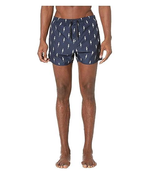 Neil Barrett All Over Thunderbolt Swim Shorts