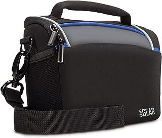 USA GEAR–Bolsa Protectora Duradera con Cubierta Impermeable y divisores Ajustables para cámara Digital