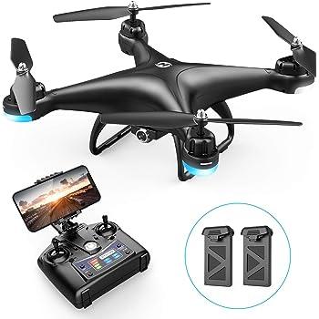 Holy Stone ドローン カメラ付き 室内 1080P 広角HD バッテリー2個付き 高度維持 FPVリアルタイム ジェスチャー撮影 ヘッドレスモード 体感操作モード 軌跡飛行モード モード1/2自由転換可 国内認証済み HS110D