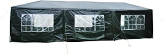 Outsunny 10' x 30' Gazebo Canopy Party Tent w/Removable Side Walls - Dark Green