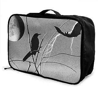 Luggage Bag Travel Duffel Bag Waterproof Eiffel Tower Maple Leaf Lightweight Large Capacity Portable Storage Bag