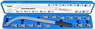 Haskyy 15 st. spännrulle nyckel set kilrem kuggrem spännnyckel torx multitand E-profil tum verktyg