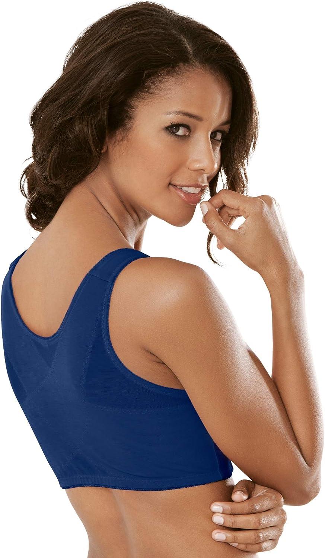 Comfort Choice Women's Plus Size Lace Wireless Posture Bra