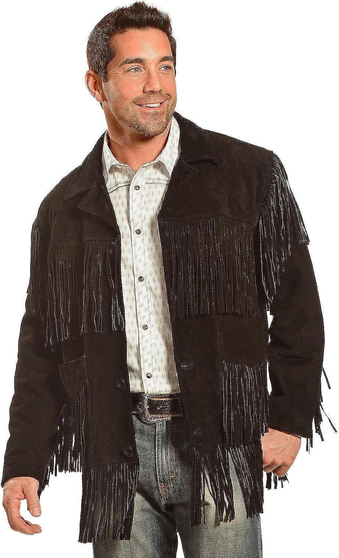 Liberty Wear Men's Suede Fringe Western Jacket