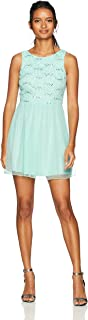 Women's Sleeveless Dress with Sequin Lace Bodice (Junior's)