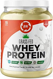 Grass Fed Whey Protein Powder - 100% Pure and Natural – 24g High Protein - 1 lb/15 Servings - Cold Processed Undenatured - Non-GMO - rBGH-Free - High Quality Unflavored from Wisconsin USA
