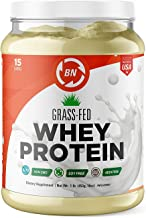 Grass Fed Whey Protein - 100% Pure, Natural & Raw – 24g High Protein - 1 lb/15-5lb/75 Servings - Cold Processed Undenatured - Non-GMO - rBGH-Free - High Quality Wisconsin USA (1 lb)