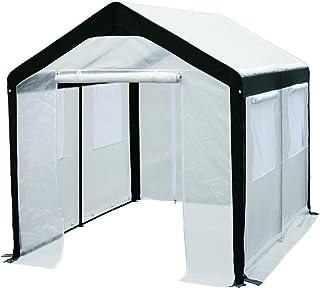 Greenhouse-Spring Gardener Peak Roof Walk In Portable Garden Hot House Fully Enclosed - Screend Windows for Ventilation, Z...