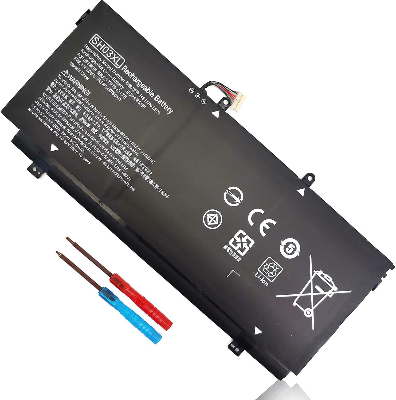 SH03XL 859356-855 Battery for HP Spectre X360 13-AC0XX 13-AC023DX 13-AC033DX 13-AC063DX 13-AC013DX 13-AC052NA 13-W0XX 13-W023DX 13-W013DX 13-W063NR 13-AB0XX HSTNN-LB7L 859026-421 CN03XL 11.55V 57.9Wh