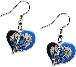 aminco NBA womens Swirl Heart Earrings