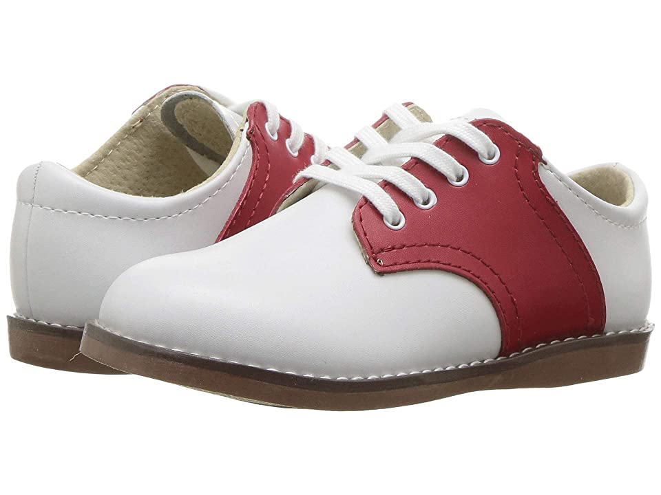 FootMates Cheer 3 (Infant/Toddler/Little Kid) (White/Apple Red) Kids Shoes