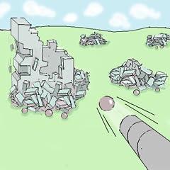 Realistic physics Destroying jenga type buildings Eye candy graphics